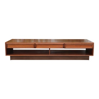 Brown Saltman Walnut Coffee Table