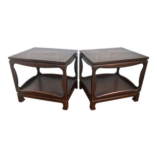 Mid Century Ming Style Chinoiserie Side Tables - a Pair For Sale