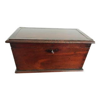 Antique Walnut Dovetailed Box For Sale