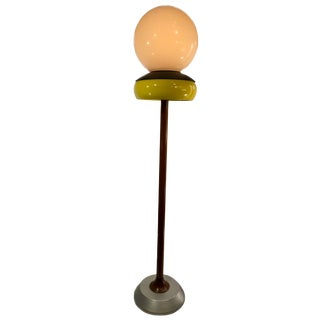 Modern Ceramic & Glass Floor Lamp For Sale