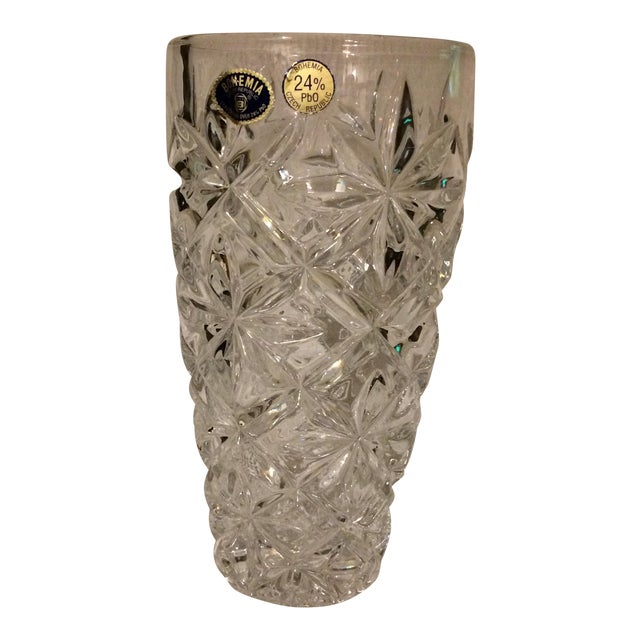 Bohemia Czech Republic 24 Lead Glass Crystal Vase Chairish