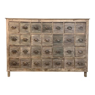 Antique Library File Drawer Cabinet For Sale