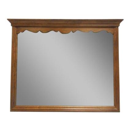 1776 Ethan Allen Hanging Wall Dresser Mirror For Sale