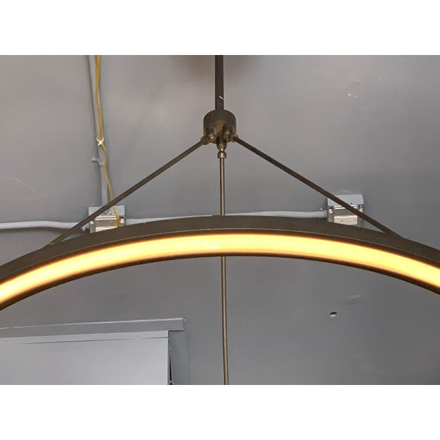 Peralta Round Chandelier by Jon Sarriugarte For Sale - Image 12 of 13