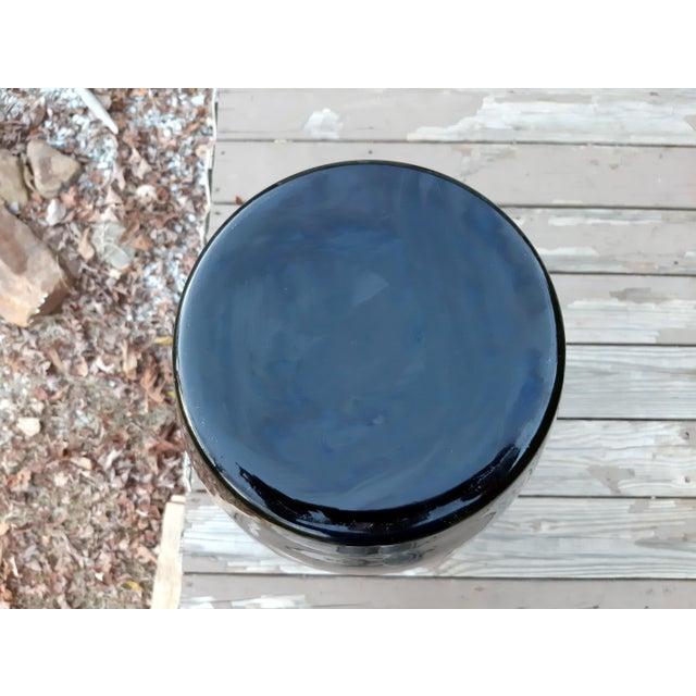Vintage West Virginia Masterwork Black Pilgrim Art Glass Vase For Sale - Image 10 of 13