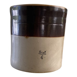 Vintage Early 20th Century Stoneware Crock For Sale