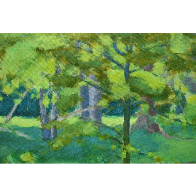 "Blue Stephen Remick ""S-Curve by the Beech Tree"" Landscape Painting For Sale - Image 8 of 11"