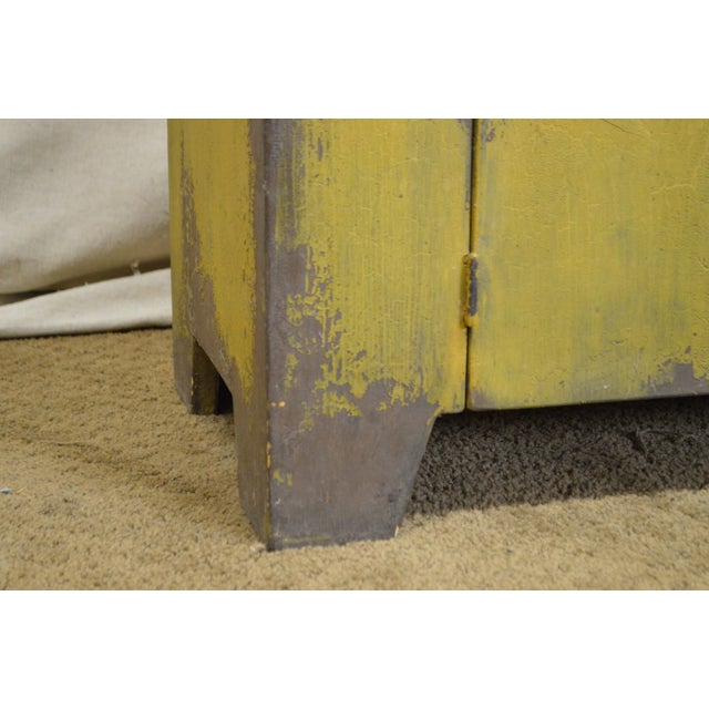 Pine Primitive Distressed Painted Country Small Dry Sink Cabinet For Sale - Image 7 of 11