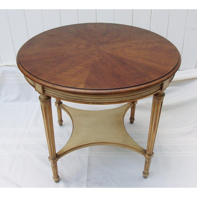 Brown John Widdicomb Round Side Table For Sale - Image 8 of 8