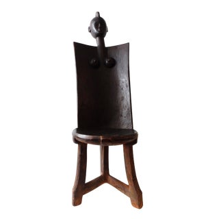 African 3-Legged Makonde Chair For Sale