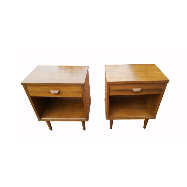 Mid-Century Modern Night Stands - A Pair - Image 2 of 4