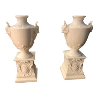 Nymphenburg Satyr Urns, a Pair, Hollywood Regency For Sale
