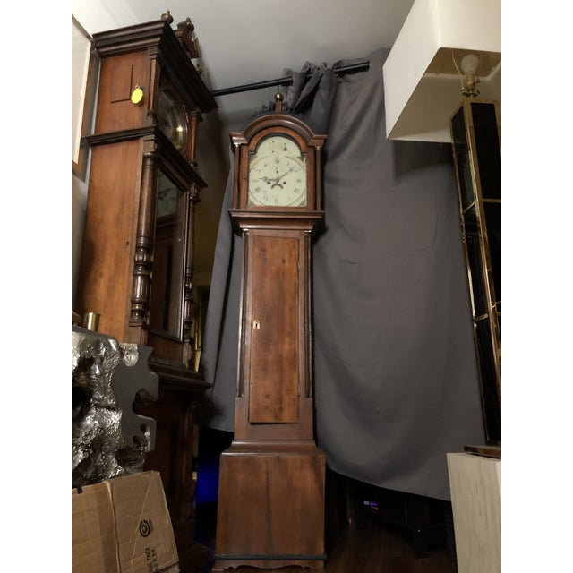 Farmhouse Antique Early American Grandfather Clock Attributed to Silas Parsons For Sale - Image 3 of 10