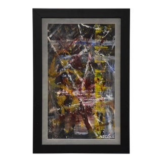 Abstract Oil Painting Singed Nicole