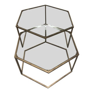 Tuscan Style Nesting Tables - Set of 2 For Sale