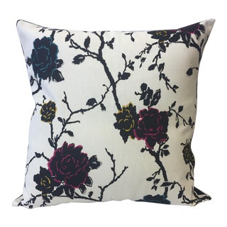 Bold Rose Accent Pillow For Sale