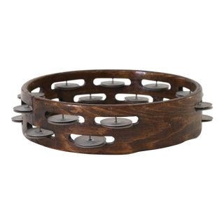 1970's Wooden Tambourine