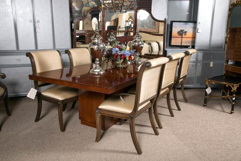 Incredible Palatial Ralph Lauren Modern Dining Table Decaso