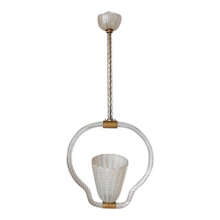 Mid 20th Century Pulegoso Pendant by Ercole Barovier For Sale