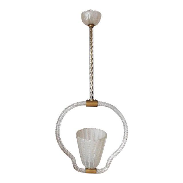 Mid 20th Century Pulegoso Pendant by Ercole Barovier For Sale