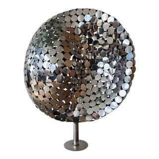 Mid-Century Modern Chrome Sphere Sculpture