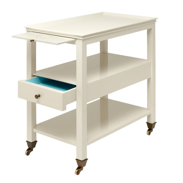 Miles Redd Collection Practical Nightstand in Ivory For Sale In New York - Image 6 of 6