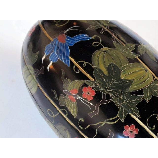 Delightful Japanese Black Lacquered Gourd-Form Box - Image 5 of 5
