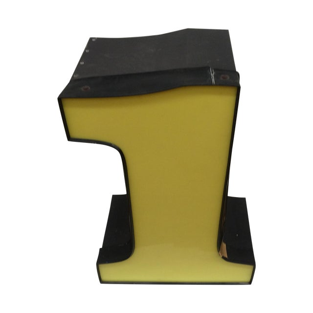 """Yellow Number """"1"""" Signage - Image 1 of 8"""