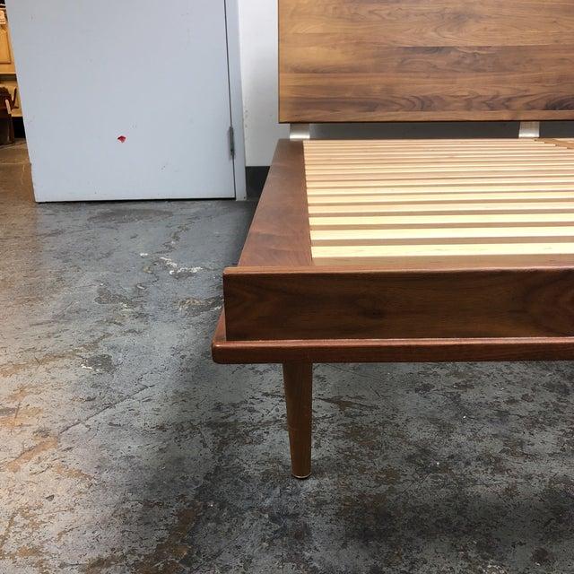 Chestnut Herman Miller Nelson Walnut Thin Edge King Bed For Sale - Image 8 of 11