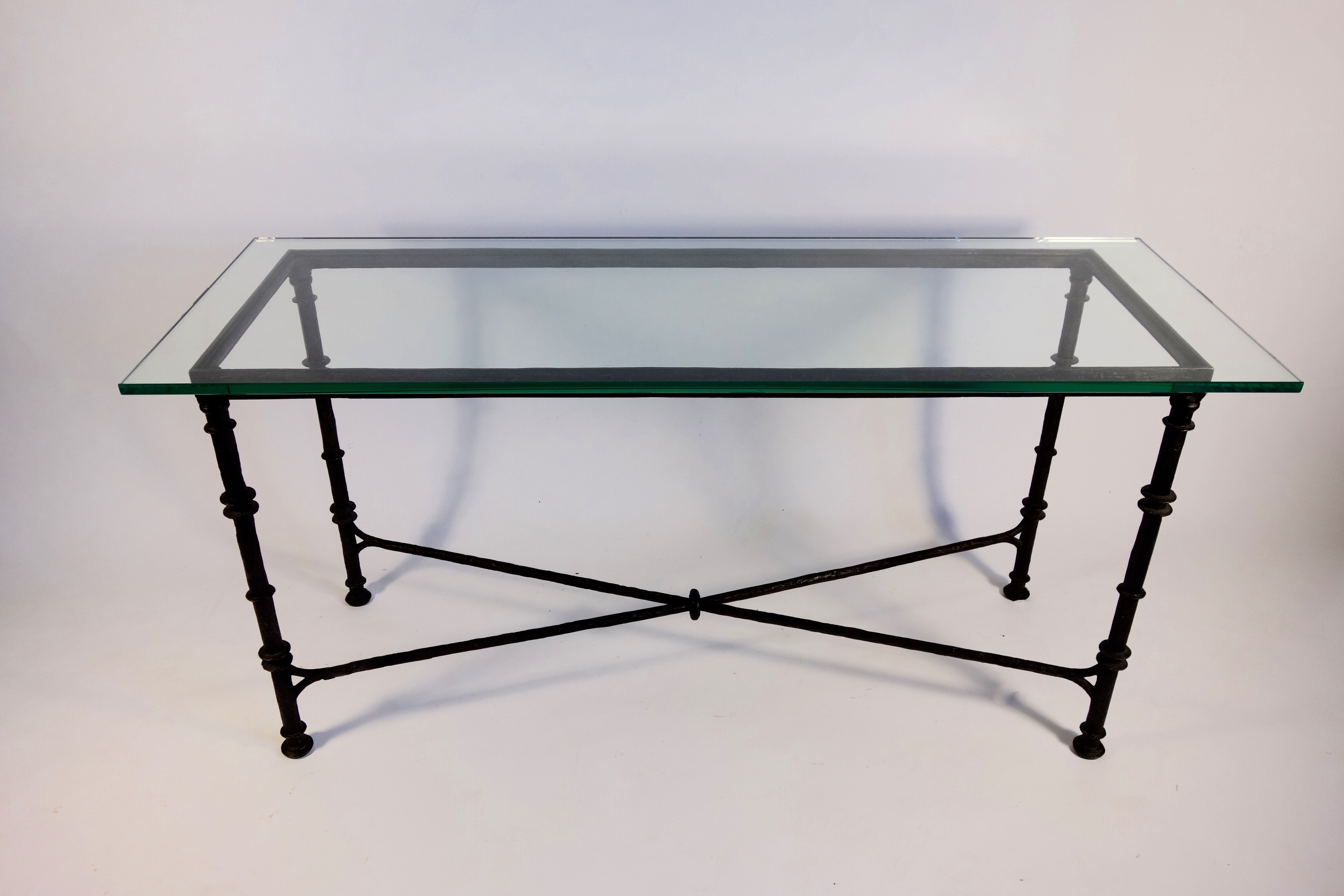 Lovely Giacometti Style Wrought Iron Console Table DECASO
