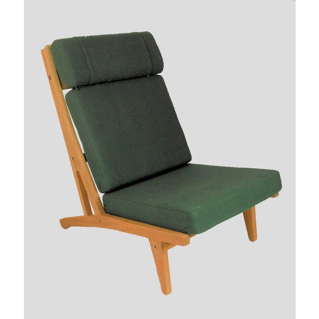 Mid-Century Modern 1960s Vintage h.j. Wegner Lounge Chairs- A Pair For Sale - Image 3 of 8