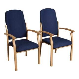 Modern Brunner for Brunner Werk Design Opus High Back Armchairs- A Pair For Sale