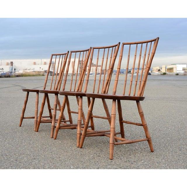 Nichols Amp Stone Danish Modern Bamboo Dining Chairs Set