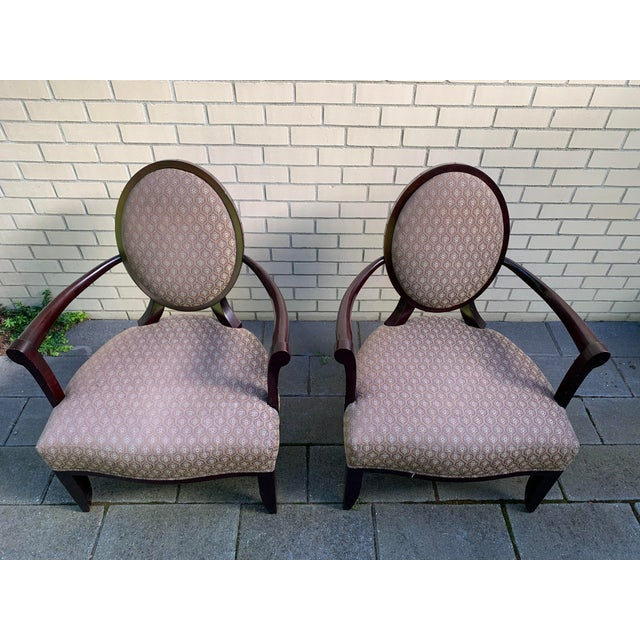 Wood Barbara Barry Baker Chairs - a Pair For Sale - Image 7 of 8