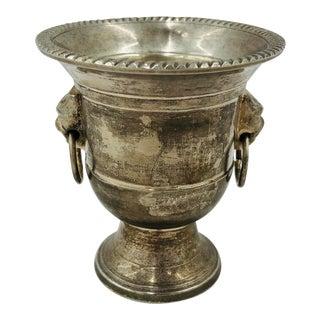 Petite Vintage Silver Urn For Sale