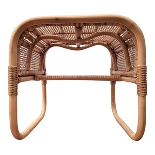 Bentwood Rattan and Cane Ottoman / Bench / Side Table For Sale