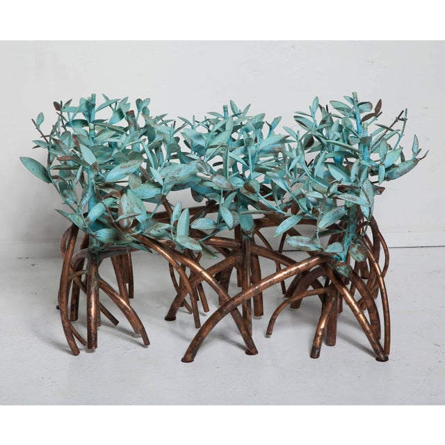 Art Nouveau Copper Mangrove Coffee Table by Garland Faulkner For Sale - Image 3 of 13