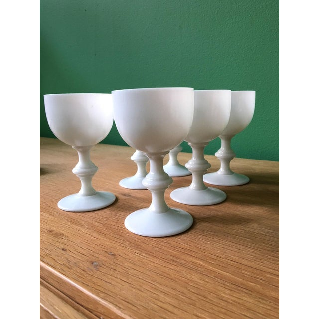 French French Portieux Vallerysthal White Wine Glasses - Set of 6 For Sale - Image 3 of 7