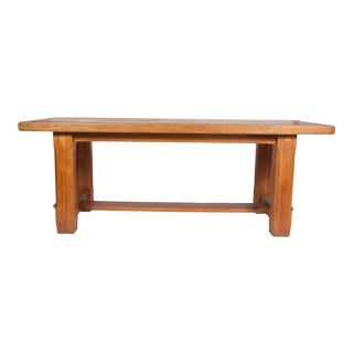 Rustic French Country Trestle Dining Table For Sale
