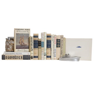 The Salty Seas Nautical Book Set, (S/15) For Sale