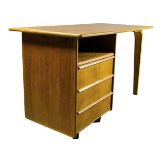 Mid-Century Dutch Design Oakwood Writing Desk Model EE02 by Cees Braakman for Pastoe, 1950s
