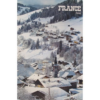 Vintage L'Hiver French Travel Poster For Sale