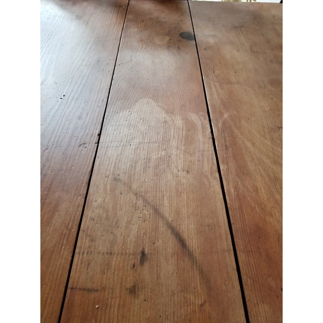 Antique Pine Farm Table For Sale - Image 11 of 12