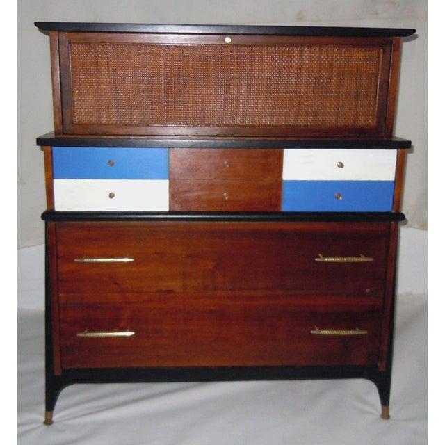 Mid-Century Modern Walnut & Painted Dresser - Image 2 of 8