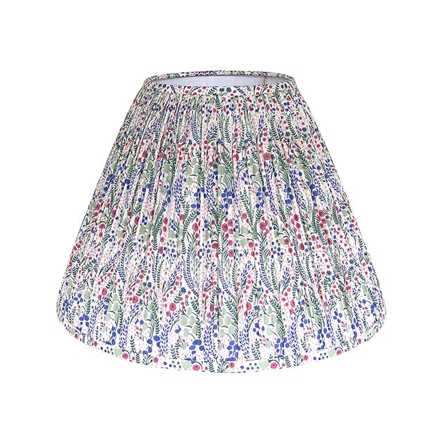 Metal Pleated Floral Lamp Shade, Liberty London Fabric For Sale - Image 7 of 7