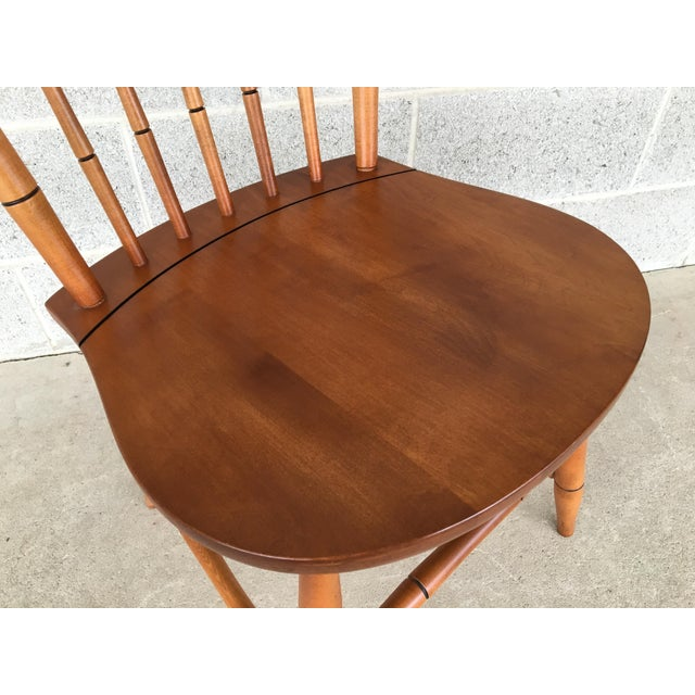 L. Hitchcock Maple Harvest Windsor Side Chairs - Set of 4 For Sale In Philadelphia - Image 6 of 9
