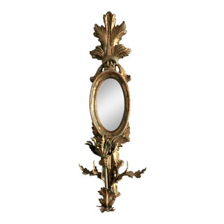 Vintage John Richard Gold Tole Mirror Sconce For Sale