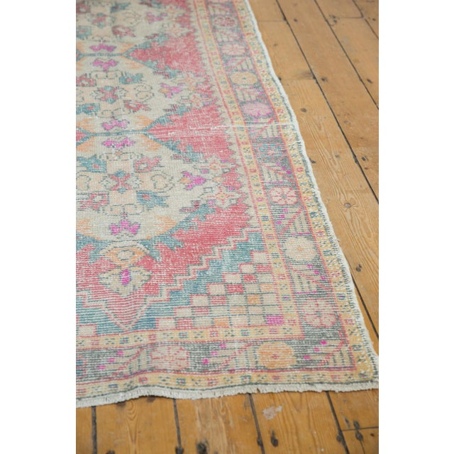 "Vintage Distressed Oushak Rug Runner - 3'5"" X 9'5"" For Sale In New York - Image 6 of 11"
