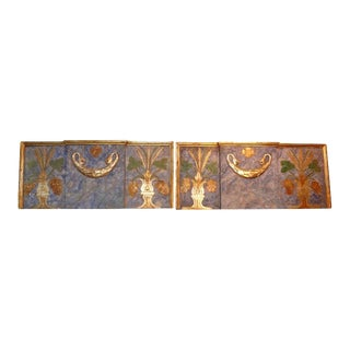 19th Century Italian Painted and Parcel Gilt Architectural Panels-A Pair For Sale