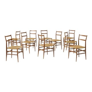 Set of Eight Leggera Chairs by Gio Ponti for Cassina For Sale